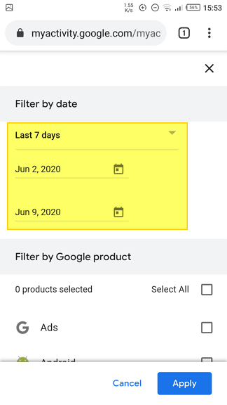 Select date - 3 Ways to Sort Chrome History by Date 7