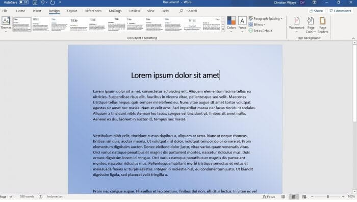 Microsoft Word Gradient - How to Change Background Color on Microsoft Word 1