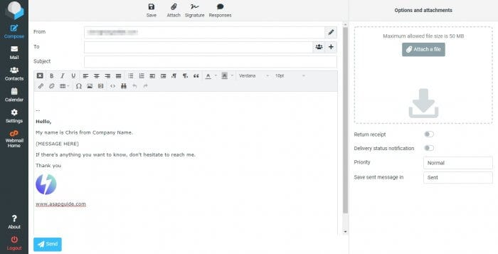 RoundCube Compose - How to Create Email Template in RoundCube Webmail 1