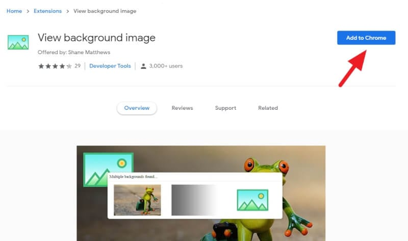 Add to Chrome - How to Download Background Image of Website 5