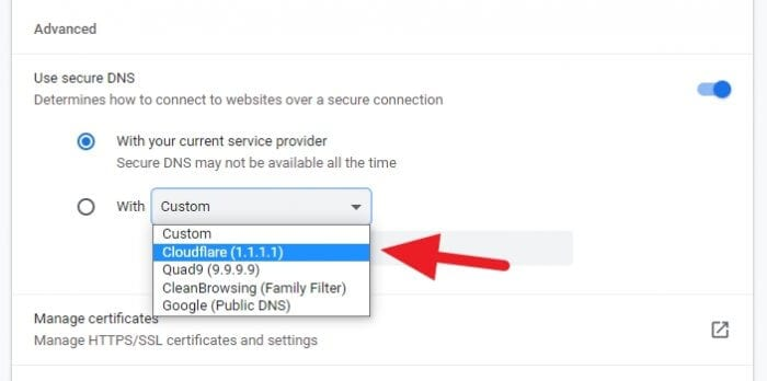 Cloudflare 1111 DNS - How to Open Blocked Websites Without VPN 3
