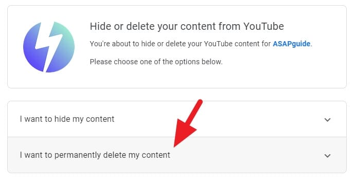 I want to permanently delete my content - How to Delete Youtube Channel Without the Main Account 13