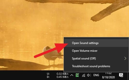 Open Sounds Settings 1 - How to Enhance Bass Quality in Windows 10 5