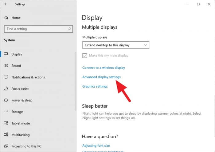 Advanced display settings 2 - How to Check How Much VRAM on Your Computer 9