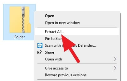 Extract all folder - How to Send a Folder and Its Content Over Email 19