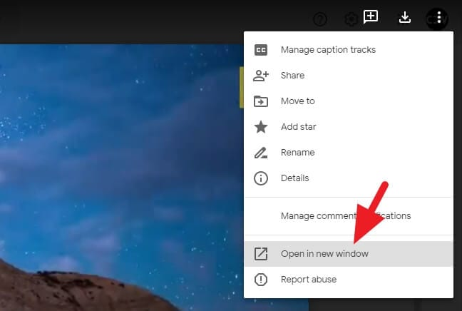 Open in new window - How to Embed Video from Google Drive 9