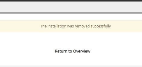 WordPress installation removed - How to Uninstall WordPress Site from cPanel 15