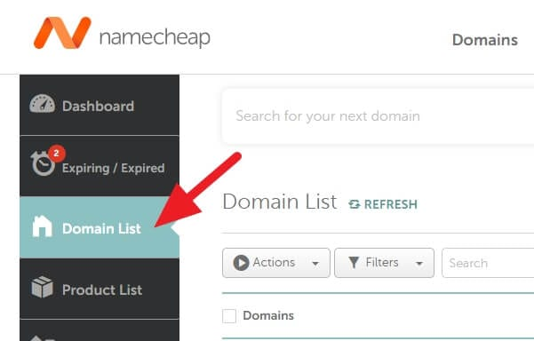 Domain List - How to Get EPP Code on Namecheap  to Transfer Domain 5
