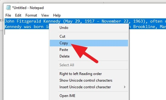 Copy Notepad - How to Clear Text Formatting in Microsoft Word 9