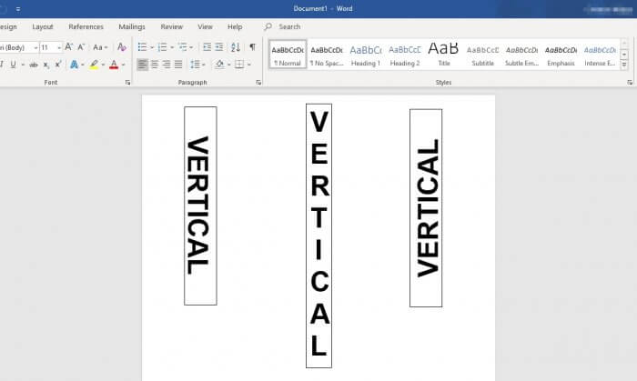 Vertical Text Microsoft Word - How to Instantly Create Vertical Text in Microsoft Word 3