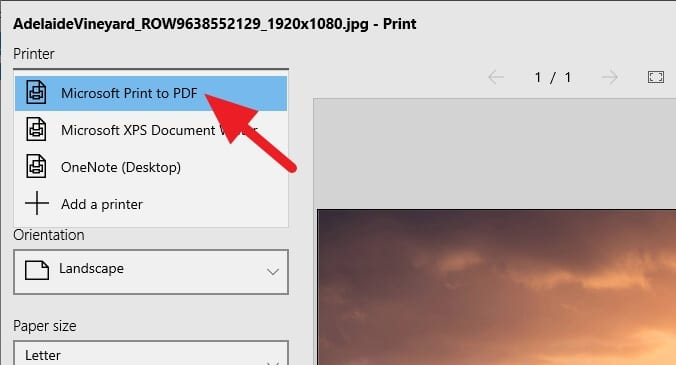 Microsoft Print to PDF - How to Save a Picture as a PDF Using Microsoft Photos 5