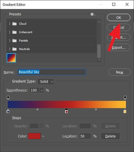 OK 8 - How to Make Gradient More Than Two Colors in Photoshop 17