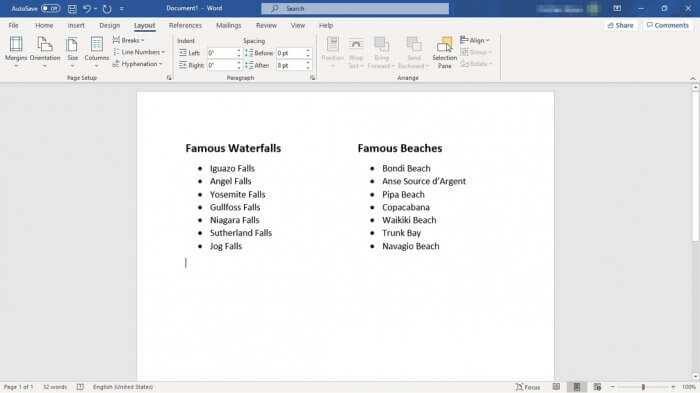 side by side bullet lists - How to Make Bullet Points List in Ms. Word Side By Side 11
