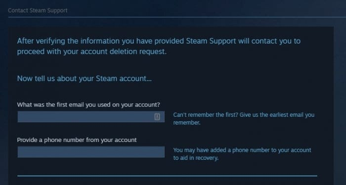 verify steam account - How to Permanently Delete Your Steam Account 13