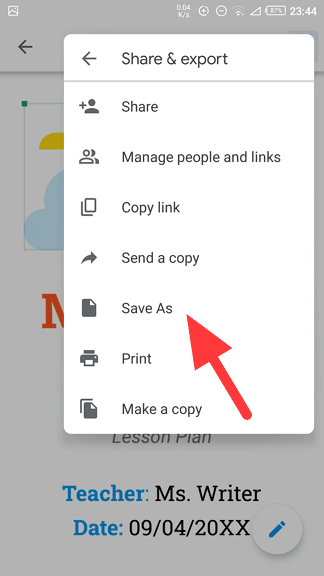 Save as - How to Quickly Save Google Docs Document as PDF 13