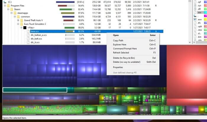 WinDirStat delete - How to Quickly Find The Largest Files on Windows 10 5